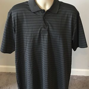 Gander Mountain Gray Golf Polo Nylon Sz L